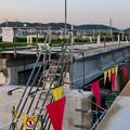 写真: 桃花台線の旧車両基地進入高架撤去工事(2018年5月10日) - 2