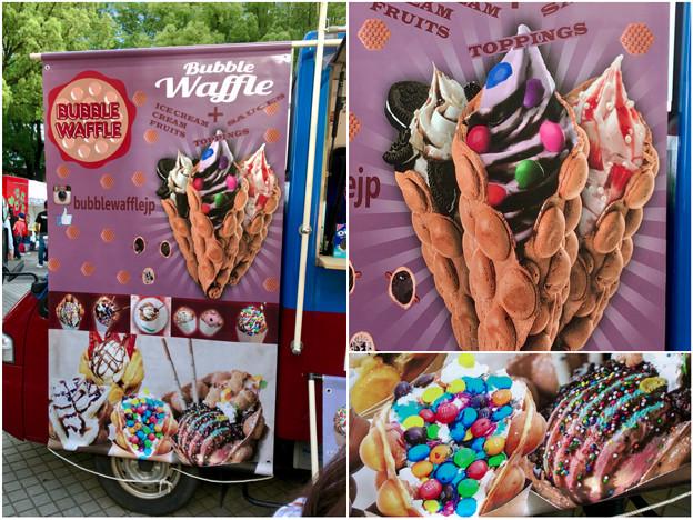 写真: 名古屋ブラジルフェスタで売ってたカラフルなアイス「バブルワッフル」 - 4