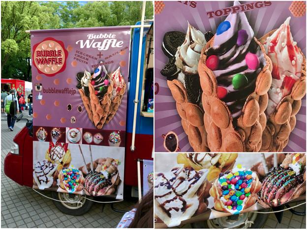 名古屋ブラジルフェスタで売ってたカラフルなアイス「バブルワッフル」 - 6