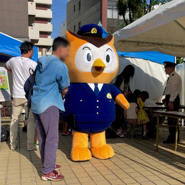栄ミナミ音楽祭 2018 No - 38:矢場公園にいた愛知県警のゆるキャラ「コノハけいぶ」
