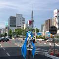 写真: 初音ミクなどのキャラクターをAR表示するアプリ「みくちゃ」- 37:実際の写真に合成!