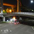 写真: 桃花台線の旧車両基地進入高架撤去工事(2018年5月15日) - 1:通行止め区間