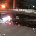 写真: 桃花台線の旧車両基地進入高架撤去工事(2018年5月15日) - 2:通行止め区間