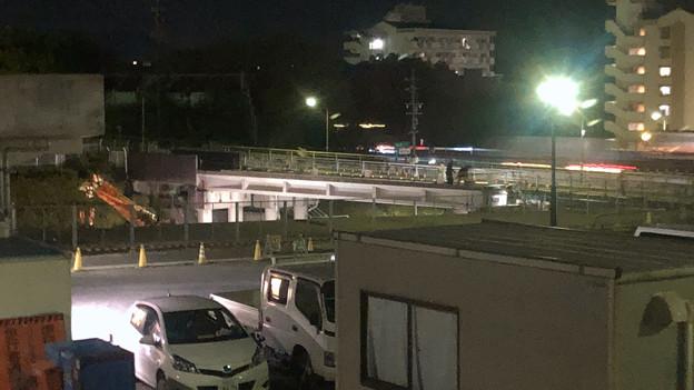 写真: 桃花台線の旧車両基地進入高架撤去工事(2018年5月15日) - 4