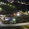 写真: 桃花台線の旧車両基地進入高架撤去工事(2018年5月15日) - 6:上から見下ろした工事現場