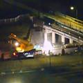 写真: 桃花台線の旧車両基地進入高架撤去工事(2018年5月15日) - 7:上から見下ろした工事現場