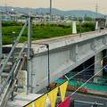 写真: 桃花台線の旧車両基地進入高架撤去工事(2018年5月16日) - 6:今日撤去予定の高架