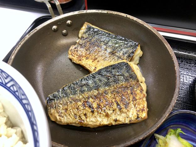 吉野家:炙り塩鯖牛定食 - 2