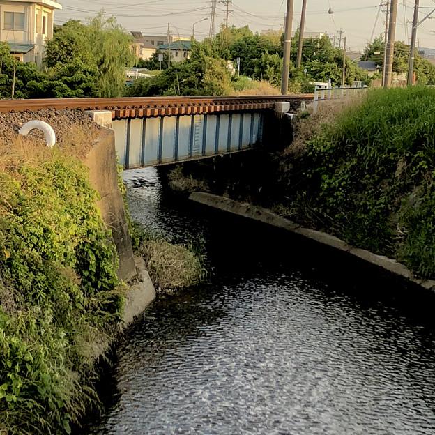 名鉄小牧線沿いを流れる川(味岡-田方神社前間) - 2