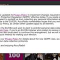 写真: AccuRadioもGDPR対応の新たなプライバシーポリシーを発表 - 1:WEB版