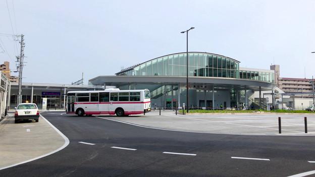 整備が完全に終わっていたJR春日井駅北口(2018年5月26日) - 12:ロータリー中央部はバス待機場に