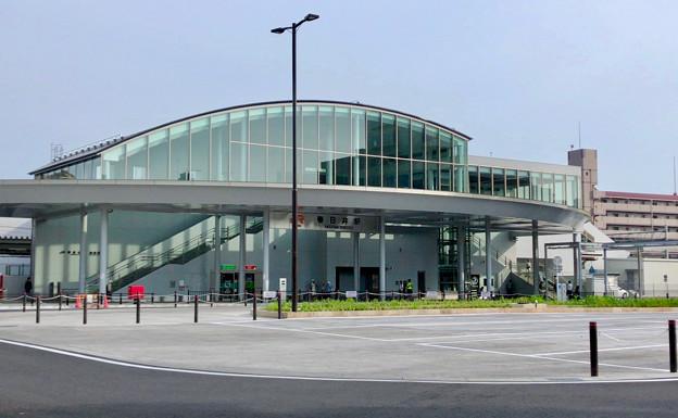 整備が完全に終わっていたJR春日井駅北口(2018年5月26日) - 13:ロータリー中央部はバス待機場に