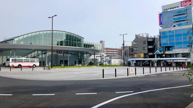 整備が完全に終わっていたJR春日井駅北口(2018年5月26日) - 14:ロータリー中央部はバス待機場に