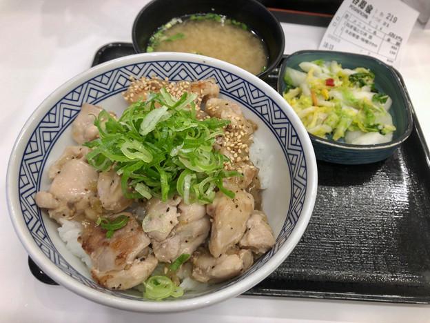 吉野家:ねぎ塩鶏丼 - 1