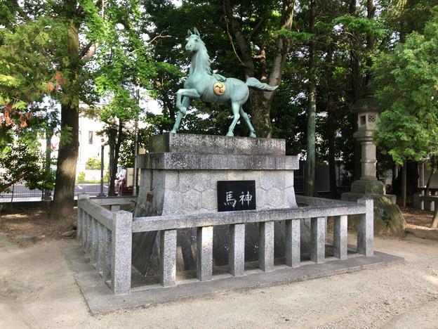 挙母神社 No - 59:アニメチックな顔をしてる馬の像