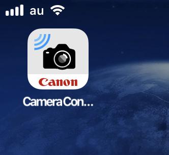 Canonのカメラ連携用アプリ「Canon Camera Connect」- 15:ホーム画面アイコン