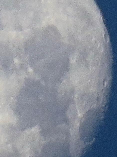 WX3000よりくっきり見えた、SX730 HSデジタル160倍で撮影した早朝の満月 - 8:クレーター