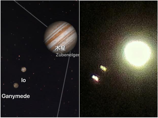 写真: 手ブレしちゃったけど、SX730HSだと木星衛生の「ガニメデ」と「イオ」が撮れた! - 4