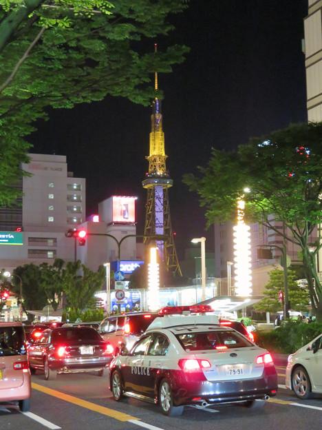 大津通から見た夜の名古屋テレビ塔 - 1
