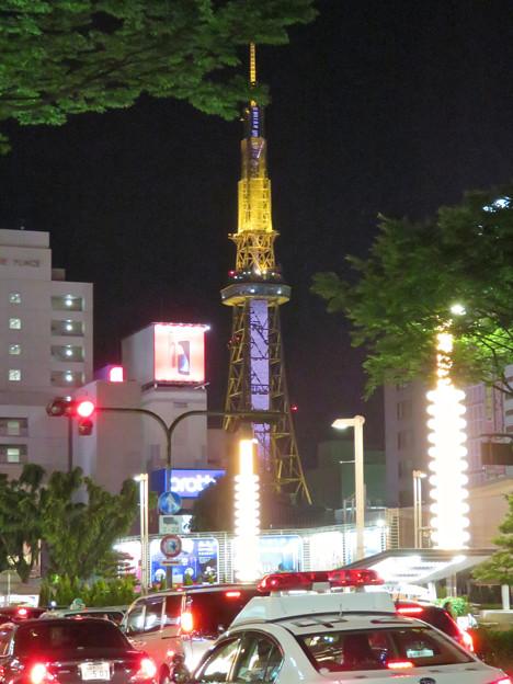 大津通から見た夜の名古屋テレビ塔 - 2
