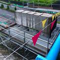 Photos: 桃花台線の旧車両基地進入高架撤去工事(2018年6月6日) - 8:中央公園側の橋脚が撤去へ