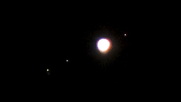 写真: SX730 HSで撮影した木星とガリレオ衛星