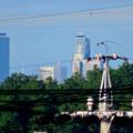 写真: 桃花台から見えたスパイラルタワーズとグローバルゲート - 1