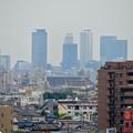 落合公園:水の塔から見た名古屋城と名駅ビル群(SX730 HSで撮影) - 1
