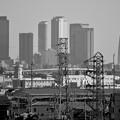 写真: イオン小牧店から見た名駅ビル群 - 5(モノクロ)