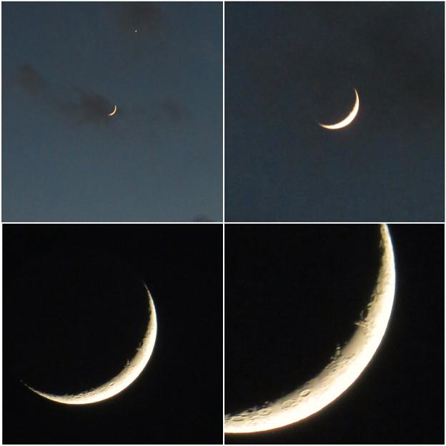 写真: SX730HSで撮影した三日月 - 7