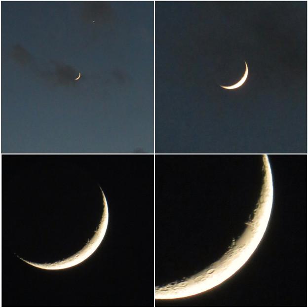 写真: SX730HSで撮影した三日月 - 8