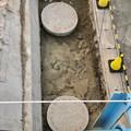 Photos: 桃花台線の旧車両基地進入高架撤去工事(2018年6月18日):反対側の撤去も開始 - 2