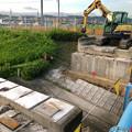 Photos: 桃花台線の旧車両基地進入高架撤去工事(2018年6月18日):反対側の撤去も開始 - 4