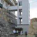 耐震性に問題あるため閉鎖された名古屋城天守閣入り口(※木造復元とは関係なし) - 5:エレベーター