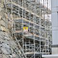 名古屋城:石垣調査用の足場を設置?(2018年6月17日) - 1