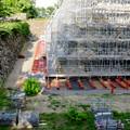 名古屋城:石垣調査用の足場を設置?(2018年6月17日) - 24
