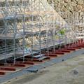 名古屋城:石垣調査用の足場を設置?(2018年6月17日) - 26