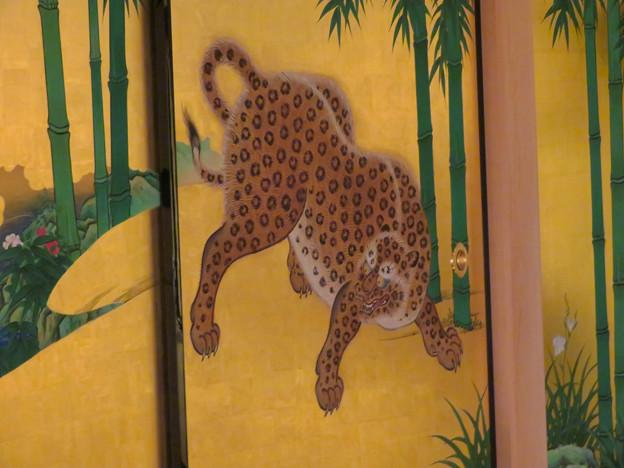 名古屋城本丸御殿 - 6:障子に描かれたヒョウ