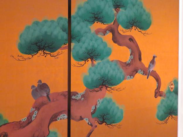 名古屋城本丸御殿 - 8:障子に描かれた鳩