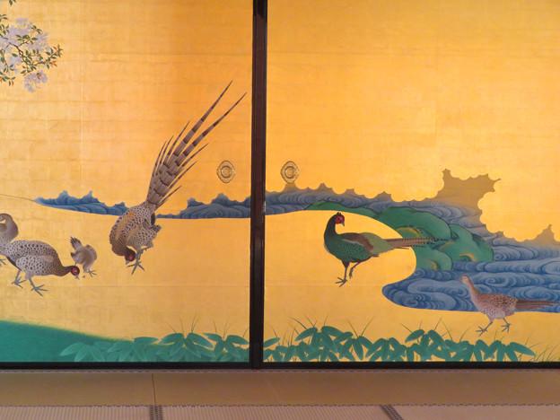 名古屋城本丸御殿 - 12:障子に描かれたキジ
