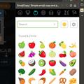 写真: Vivaldi WEBパネル:絵文字活用に便利な「EmojiCopy」- 2:ジャンル切り替え(植物・食べ物)