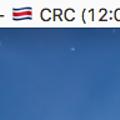写真: ワールドカップ情報を表示するメニューバーアプリ「WorldCup 2018」- 2:今日の次の試合時刻を表示(※日本時間ではない)