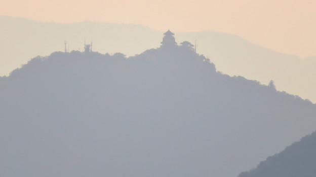 犬山丸の内緑地から見えた金華山と岐阜城 - 2
