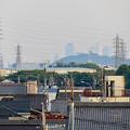 写真: 犬山丸の内緑地から見えた小牧山越しの名駅ビル群 - 1
