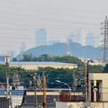 写真: 犬山丸の内緑地から見えた小牧山越しの名駅ビル群 - 2
