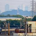 写真: 犬山丸の内緑地から見えた小牧山越しの名駅ビル群 - 4