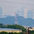 写真: 犬山丸の内緑地から見えた小牧山越しの名駅ビル群 - 5