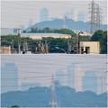 写真: 犬山丸の内緑地から見えた小牧山越しの名駅ビル群 - 7