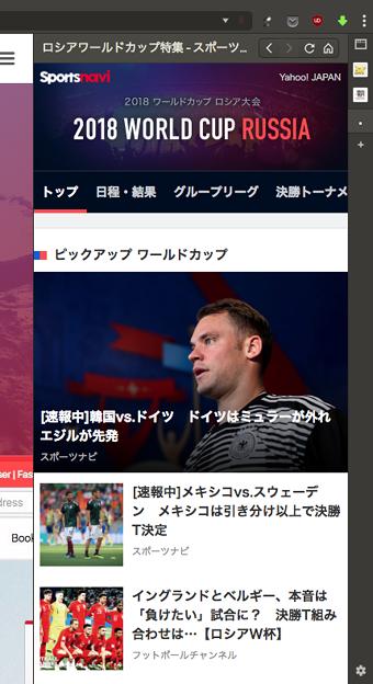 Vivaldi WEBパネル:Sportsnaviのワールドカップ特集 - 1