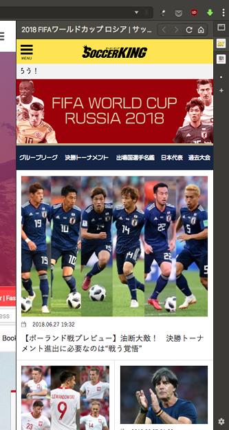 写真: Vivaldi WEBパネル:サッカーキングのワールドカップ特集 - 1